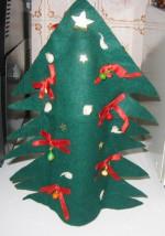 NATALE. LE DECORAZIONI – L'albero di Natale copri bottiglia