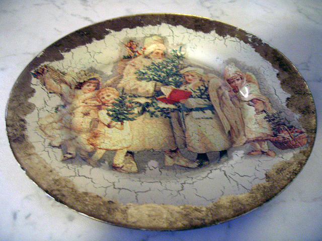 Natale le decorazioni i piatti con il decoupage for Decorazioni piatti