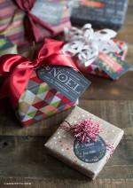 NATALE. LE ETICHETTE – Effetto lavagna per i pacchetti regalo