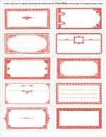 NATALE. LE ETICHETTE – Le cornici rosse personalizzabili