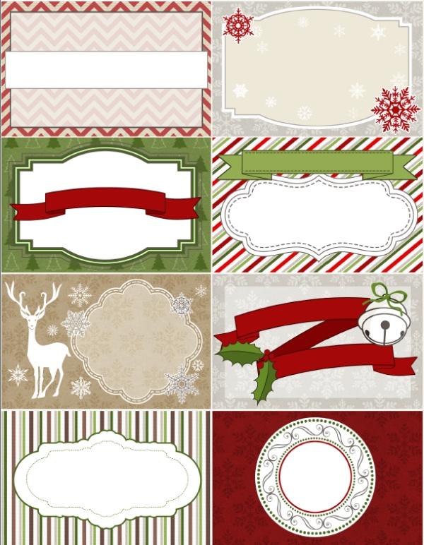 natale le etichette cornici natalizie da personalizzare. Black Bedroom Furniture Sets. Home Design Ideas