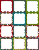 NATALE. LE ETICHETTE – Cornici colorate da compilare