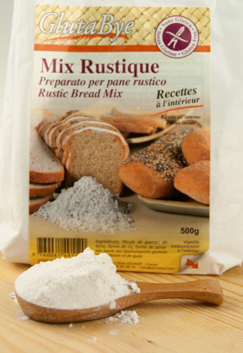 Mix rustique glutabye farina pane integrale per celiaci senza glutine